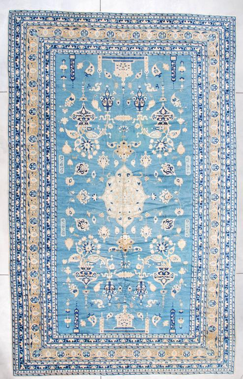 Antique India Rug Signed Ghazan 10'2″ X 16'2″ #7255