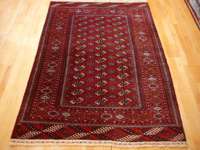 13615 Turkmenistan Tekke rug 6.4 x 4.4 ft