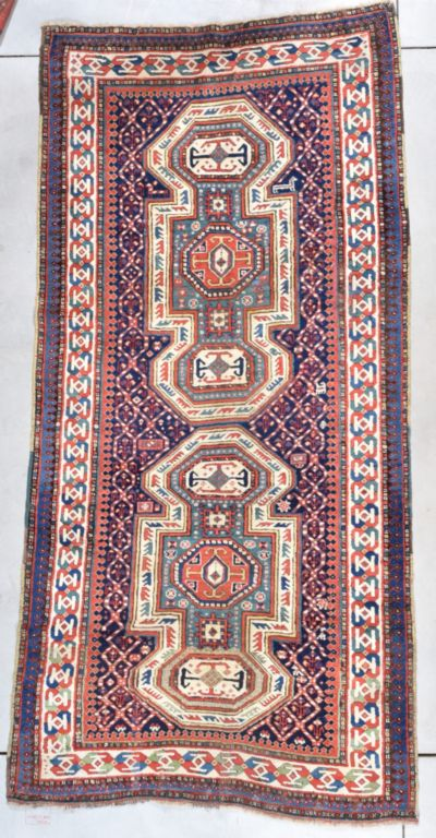 Antique Kazak Rug #7732