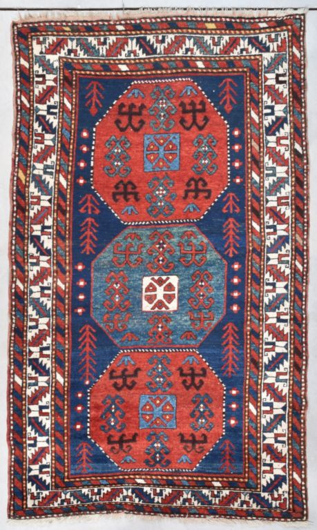 Antique Kazak Rug #7734