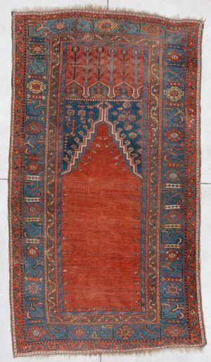 Ladik Antique Turkish Prayer Rug #5988 image