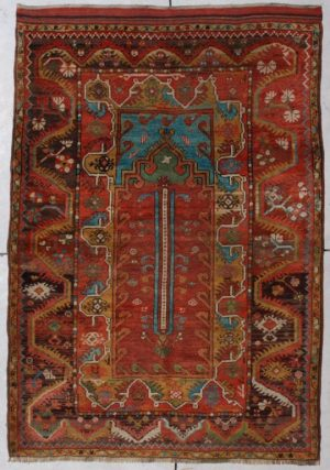 Antique Turkish Melez Rug #6787 image