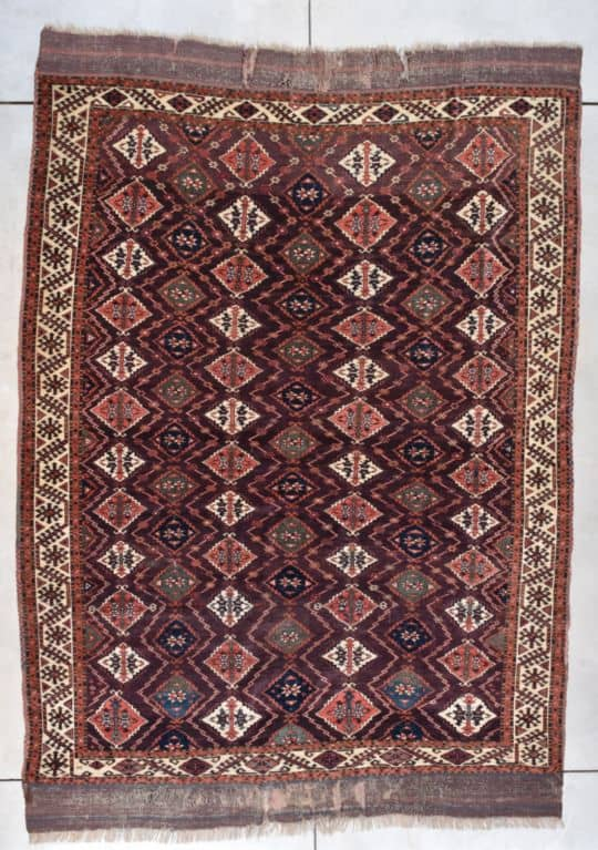 Antique Chodor Turkmen Tekke Rug #7770