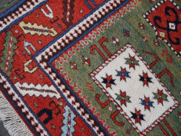Kazak Karachoph Green Rug Djoharian Collection