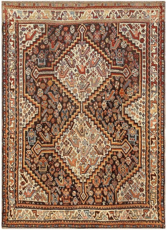 Antique Ghashgai Persian Rug 47540