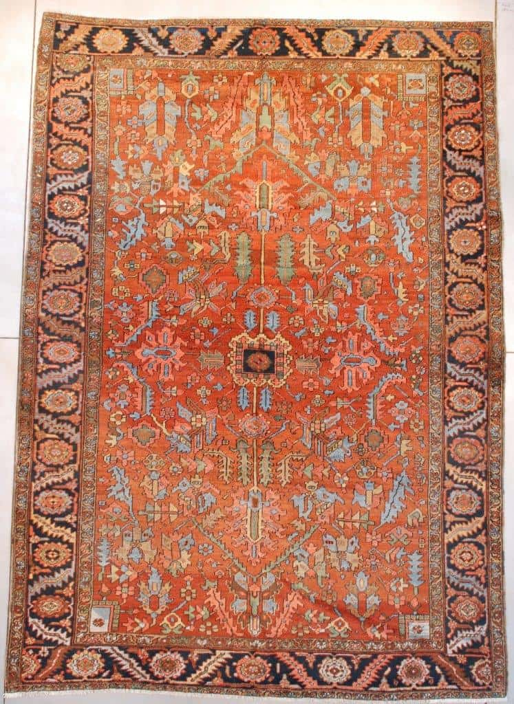 Antique Heriz Persian Oriental Rug 8'4″ X 11'9″ #7658