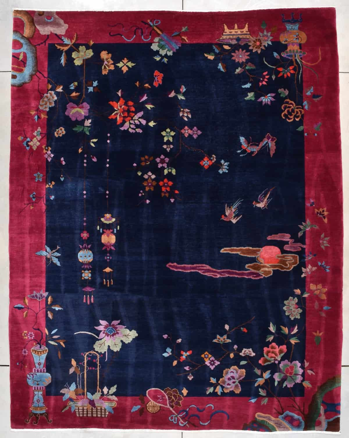 7856 Art Deco Chinese rug