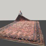 21 x 13 ft Oversized Persian Rug Mehraban with Sarouk style