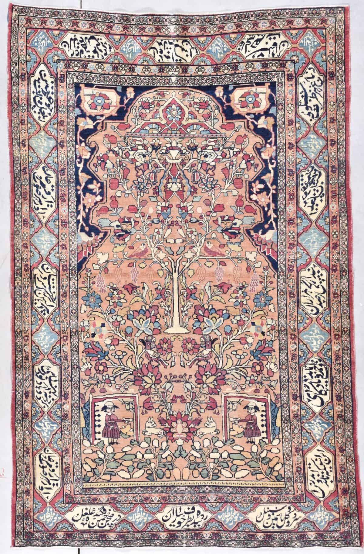 7947 antique Laver Kerman rug