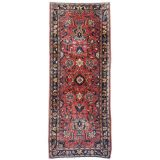 Sarouk antique persian rug 7 x 3 ft