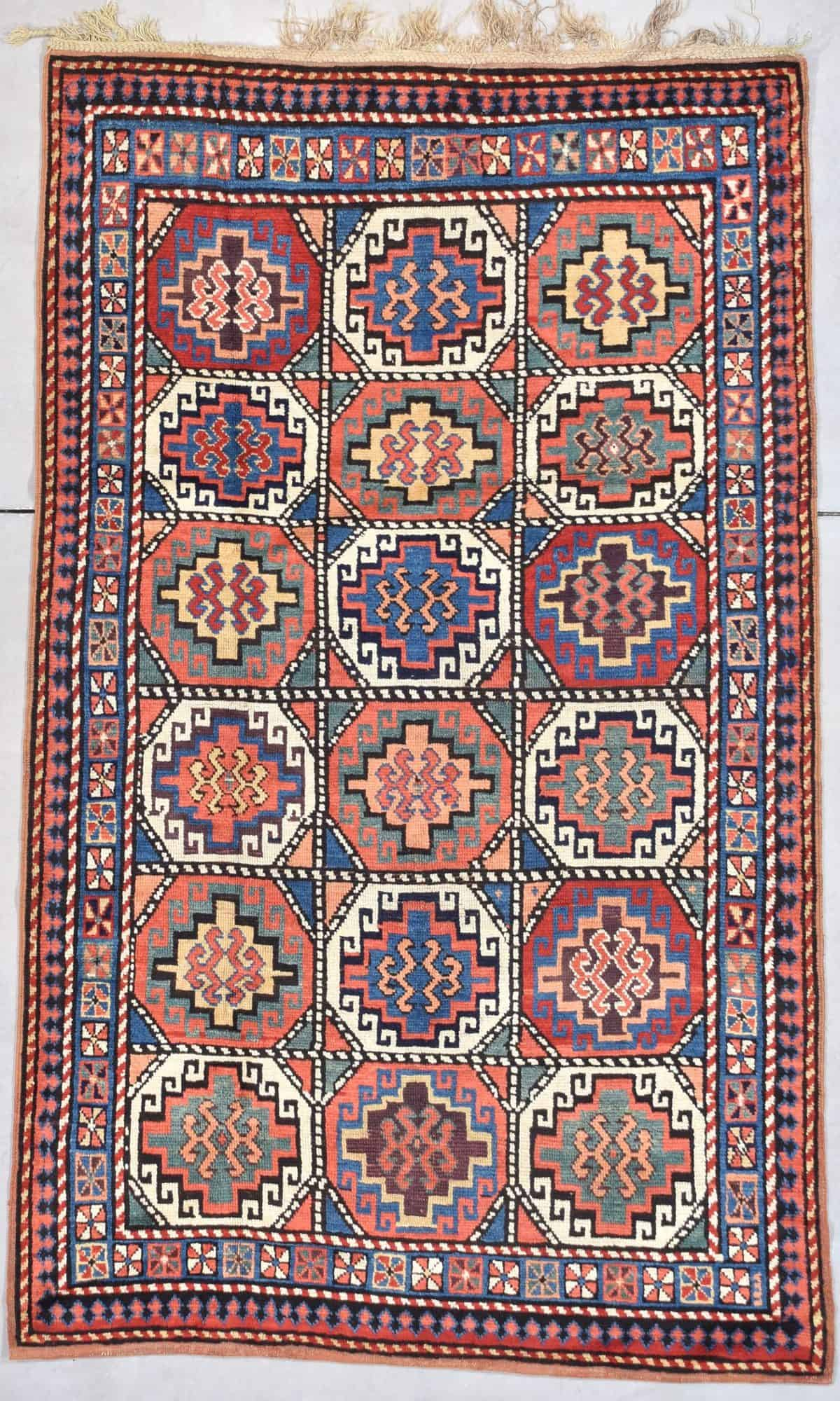 "Antique Mogan Oriental Rug 4'2"" X 6'10"" #7894"