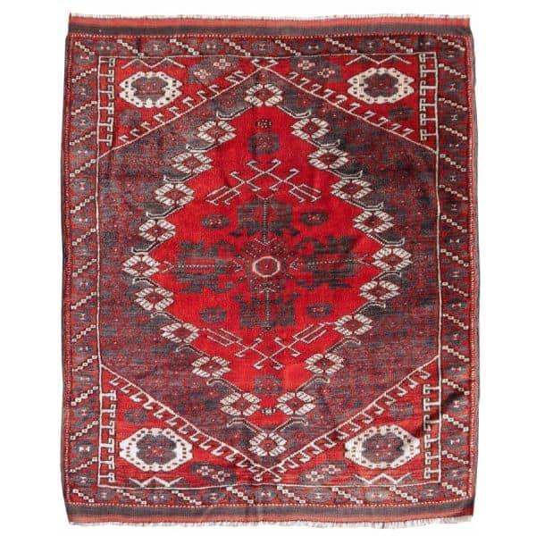 Bergama vintage rug 4.4 x 3.7 ft