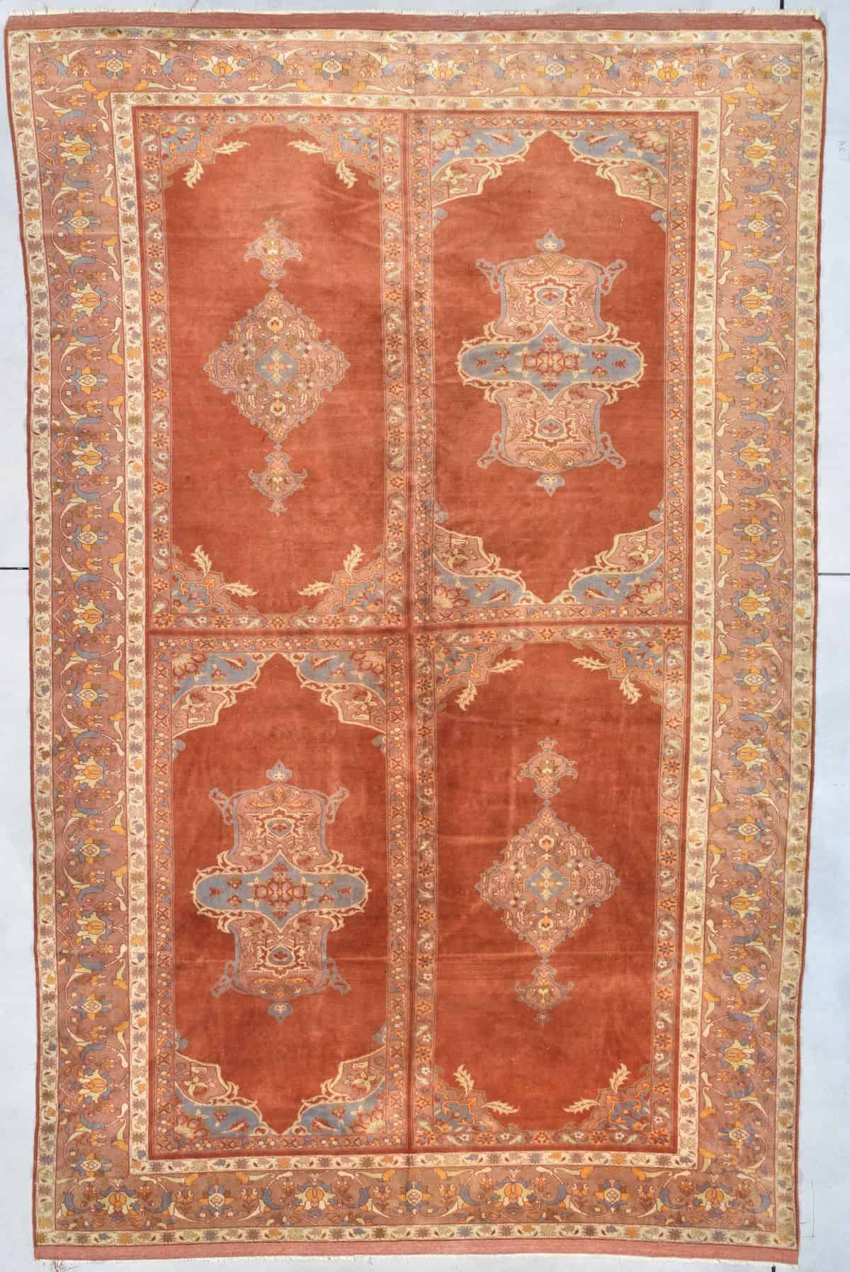 "Antique Amritsar Oriental Rug 7'4"" X 11'4"" #8012antique amrisar carpet 8012 image"